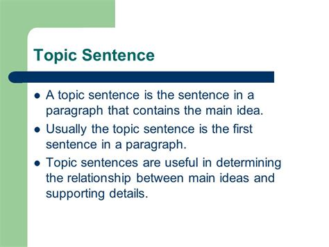 A Topic by Thesis Statement Idea Conclusion Ppt