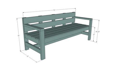 bench measurement napravi sam moderna klupa za dvorište