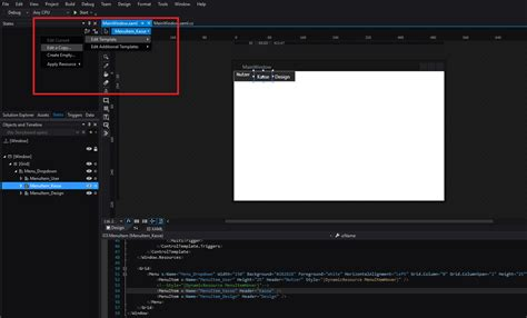 wpf menu template c wpf menu item style let the header disappear stack