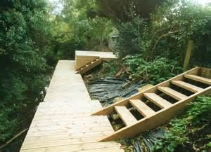 Landscape Timber Sam Timber Decking And Steps For A Split Level Garden Dean