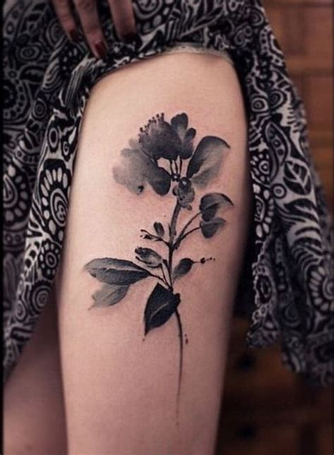 thigh flower tattoos 30 beautiful flower designs listing more