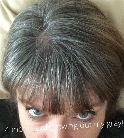 how to transition to gray hair from dyed 4 month 1 week mark of growing out my gray hair