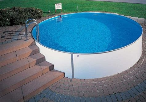 runder pool im garten all one needs to do the pool build yourself with a