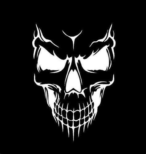 wicked skull tattoos evil skull vinyl decal choose size and color made with