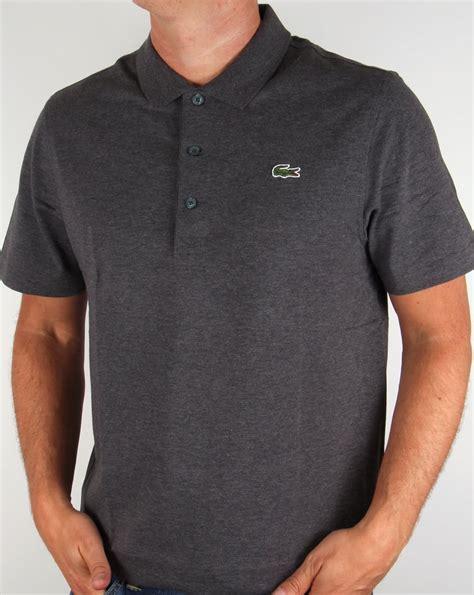 Polo Shirt Locoste lacoste polo shirt grey sleeve sport