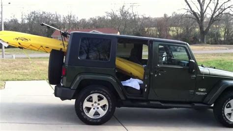 jeep kayak jeep wrangler kayak rack soft top car interior design