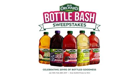 Company Sweepstakes 2017 - old orchard brands celebrates 20 years with sweepstakes 2017 01 16 beverage industry