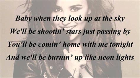 demi lovato two pieces lyrics az demi lovato neon lights with lyrics youtube