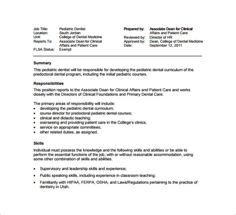 Description For A Dentist by Description For Administrative Assistant For Resume The Most Resume Administrative Assistant