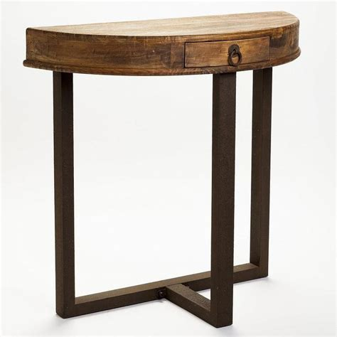 Half Console Table by Aurelle Home Rustic Half Console Table