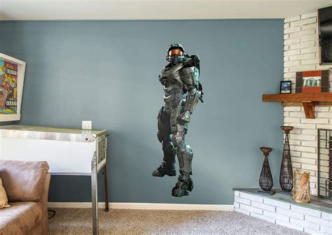 halo wall stickers master chief wall decal shop fathead 174 for halo decor
