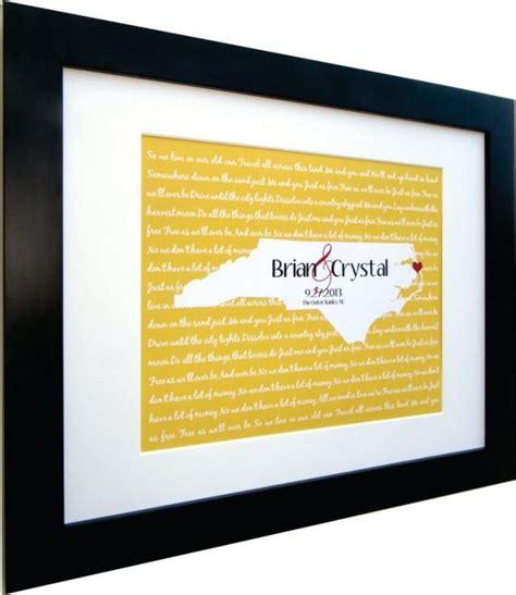 wedding lyrics song map wall art personalized gift any