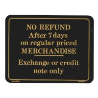 Faucet Direct Return Policy by Retail Policy Signs Retail Store Signs