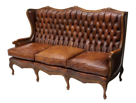 french style leather sofa french louis xv style buttoned leather sofa may estates