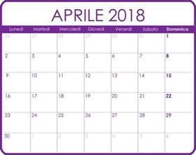 Calendario 2018 Aprile Calendari Mensili Calendari