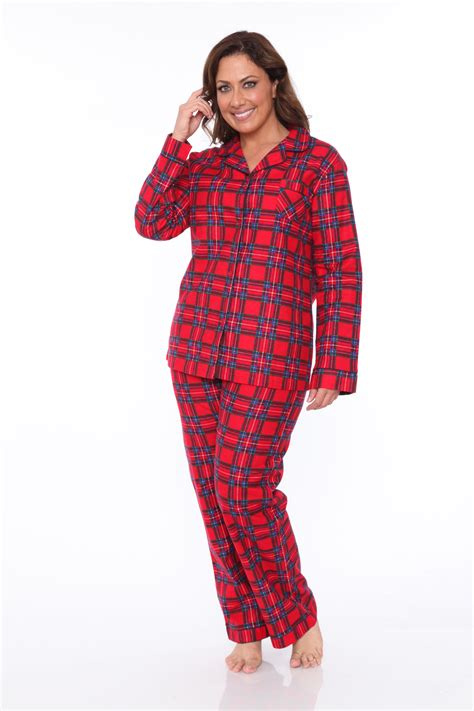 Pajamas Pp A by White S Plus Flannel Pajama Set