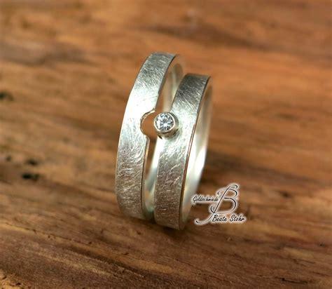 Trauringe Diamant by Trauringe Mit Diamant Silber Traumschmuckwerkstatt Shop