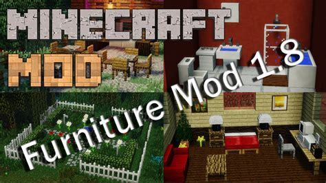 Mr Crayfish Furniture Mod by Minecraft Mods 1 8 Mr Crayfish S Furniture Mod Update