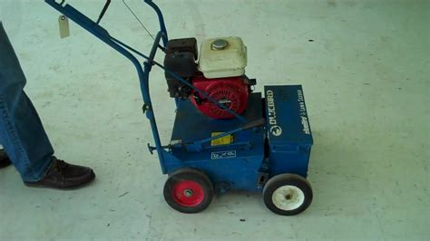 lawn seeder by bluebird with 5 5 hp honda engine 174 mp4