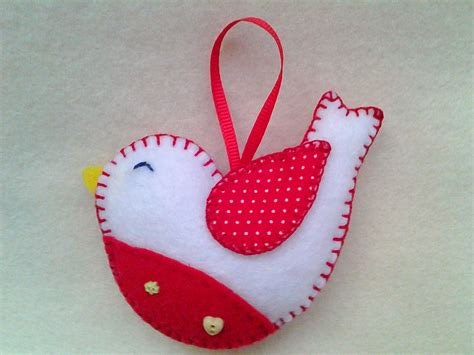 Handmade Ornament Patterns - handmade felt bird ornament by littlefactorycrafts on etsy