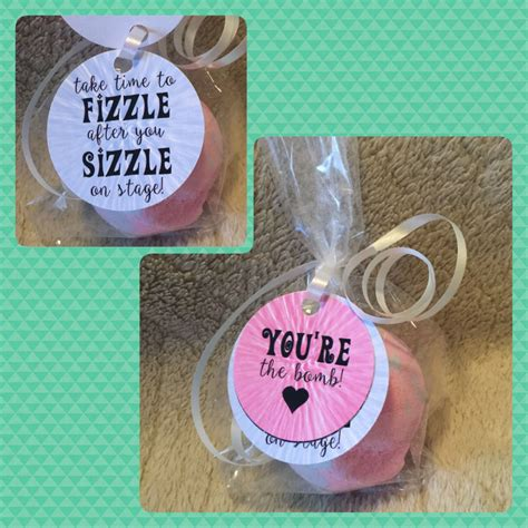 printable good luck gift tags good luck gift for dancers bath bomb quot you re the bomb