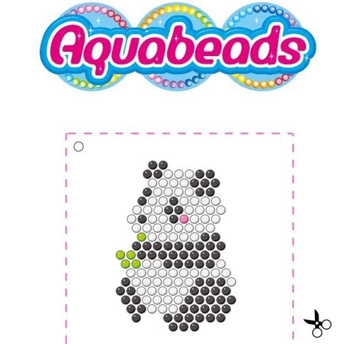 aquabeads panda template beados pinterest pandas and