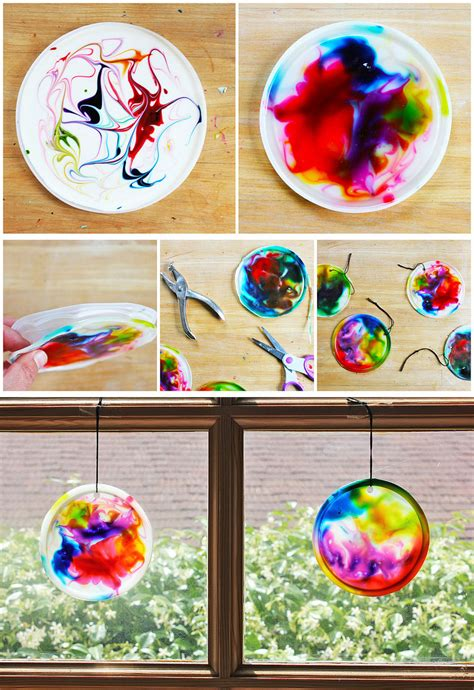 how to make suncatchers with plastic for cosmic suncatchers babble dabble do