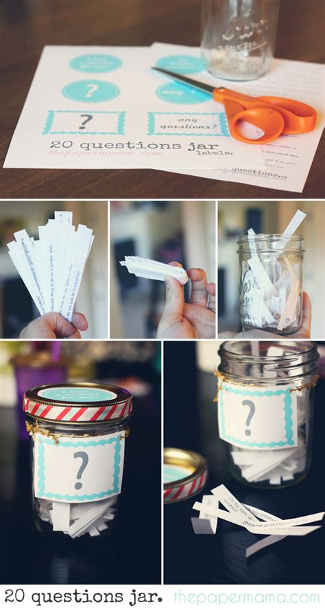 50 days of diy 20 questions jar the paper