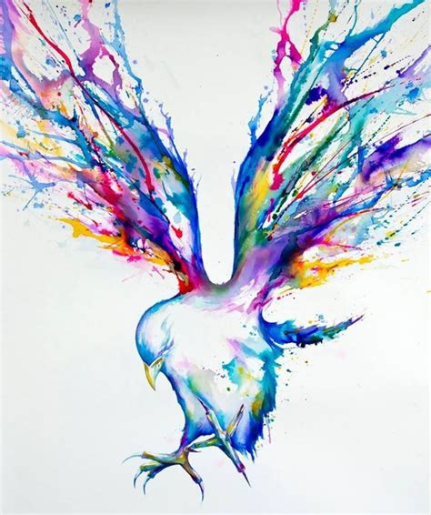 rainbow watercolor tattoo 29 fantastic watercolor bird tattoos