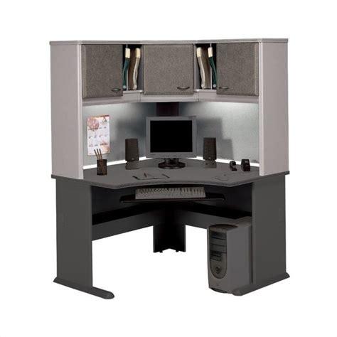Bush Series A Corner Desk Bush Business Series A 48 Quot Wood Corner Desk With Hutch In Pewter Bsa047 145