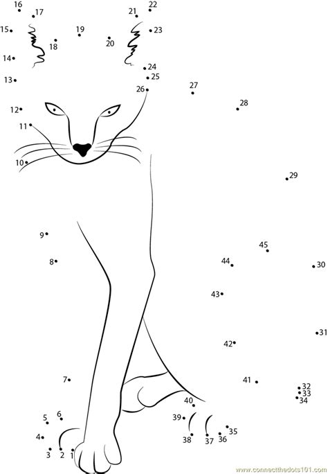 printable dot to dot cat wow cat dot to dot printable worksheet connect the dots