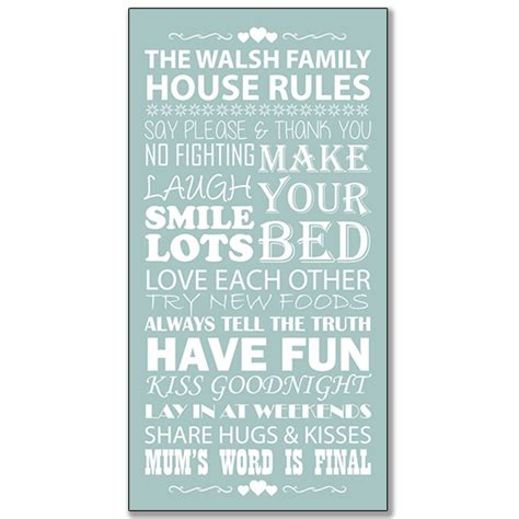 family house rules family house rules framed print