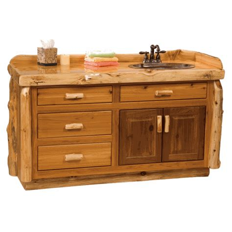 5 foot bathroom vanity fireside lodge cedar log vanity 4 foot
