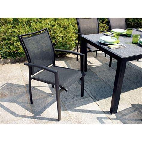 sedia da giardino sedia da giardino in alluminio nero opaco formia san marco