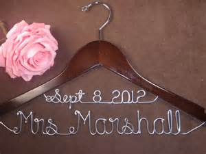 personalized wedding dress hangers beautiful bridal personalized wedding dress hangers