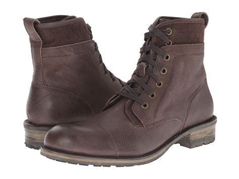 varvatos boots lyst varvatos lincoln tahoe boot in brown for