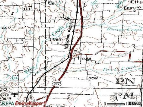 tioga texas map tioga county texas