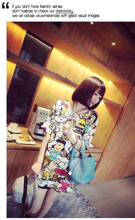 Dress Snoopy Nidya Murah kaos wanita gambar snoopy lucu model terbaru jual murah import kerja