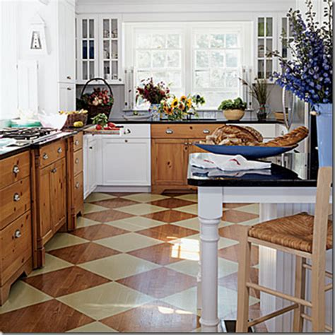 Painted Kitchen Floors Developing Designs By Jens Sisino Add Pizzazz With Painted Wood Floors
