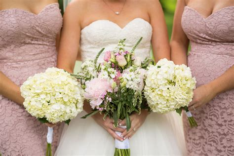 Bridesmaid Floral Bouquets by White Floral Bouquets Pink And White Bridal