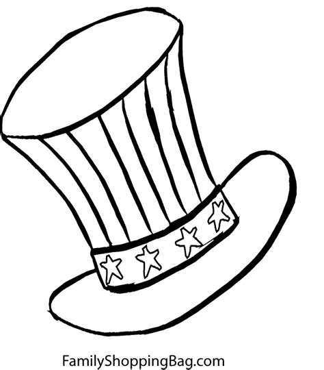 coloring page of uncle sam uncle sam hat coloring page