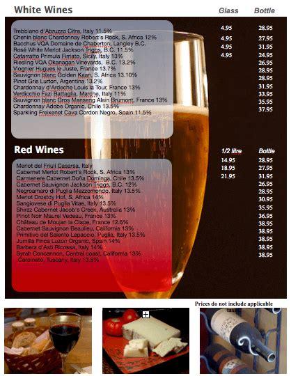 wine list template wine list template free iwork templates
