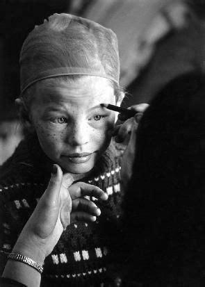 Inger Nilsson getting her Pippi face on | •Pippi