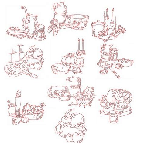 free kitchen embroidery designs redwork kitchen machine embroidery designs by sew swell