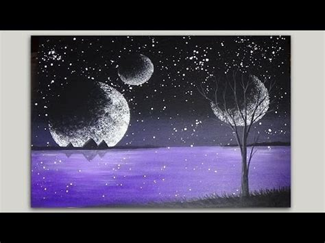 acrylic painting mystical moons planet acrylic painting step by step tutorial mystical moons