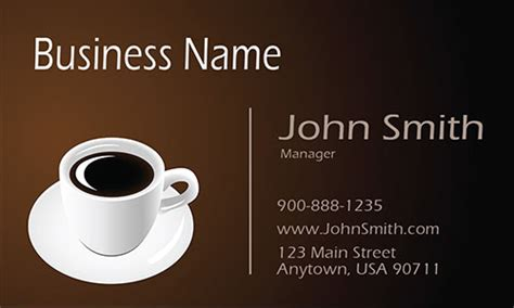 coffee shop business design italian coffee shop restaurant business card design 1001101