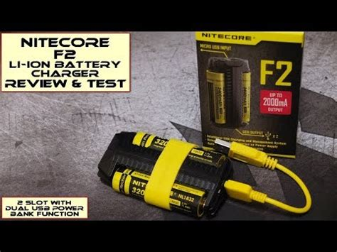 Nitecore Charger Baterai With Power Bank F2 nitecore f2 battery charger power bank review test