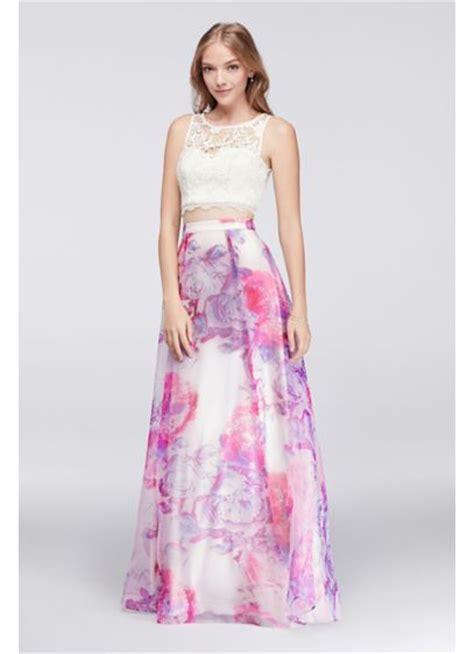 Lace Pink Crop Top Skirt Gaun Malam Dress Baju Pesta Import lace crop top and printed organza skirt set david s bridal
