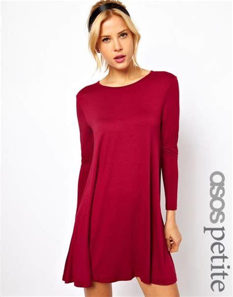 petite swing dress asos petite exclusive swing dress with long sleeves in