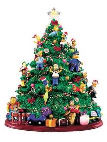 simpsons lighted christmas tree mini statue hamilton